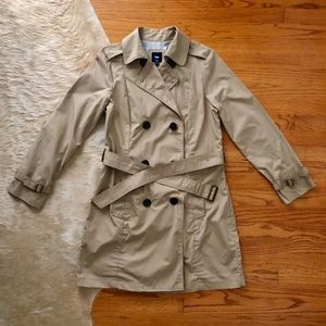 Khaki Trench Coat Gap Size Large